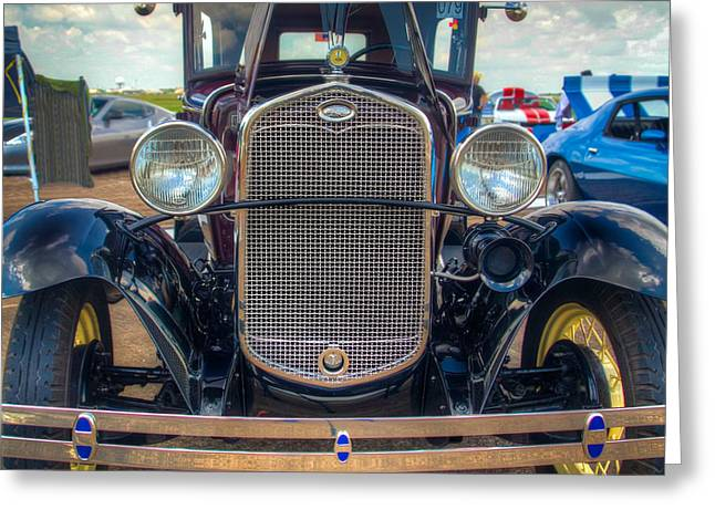 Car Pictures Greeting Cards - Model A Head On Greeting Card by Tim Stanley