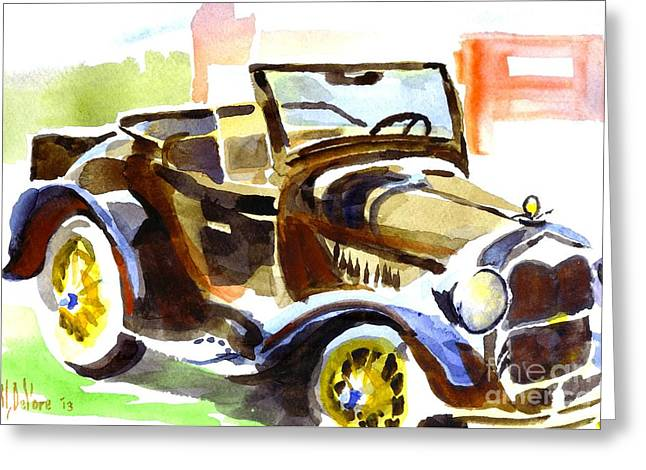 Authentic Colors Greeting Cards - Model A in September Sunshine Greeting Card by Kip DeVore