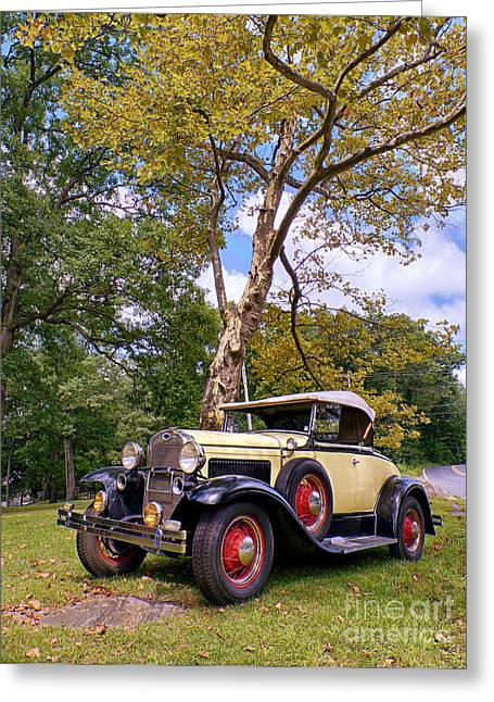 Ford Model A Greeting Cards - Model A Roadster Greeting Card by Mark Miller