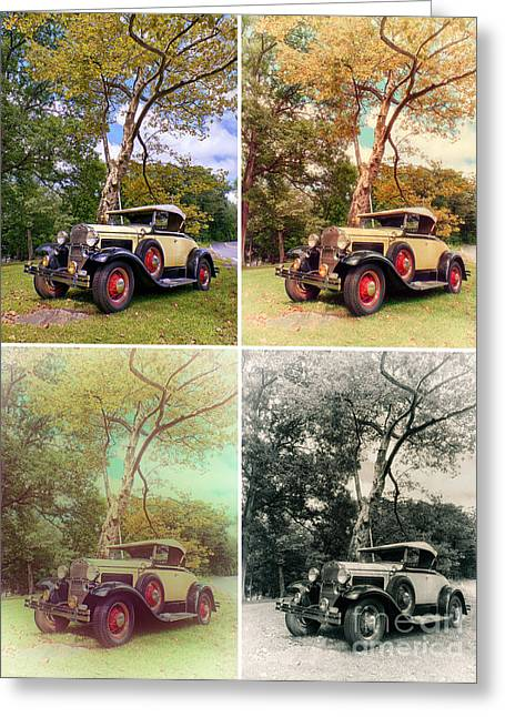 Ford Model A Greeting Cards - Model A Roadster - Warhol style Greeting Card by Mark Miller