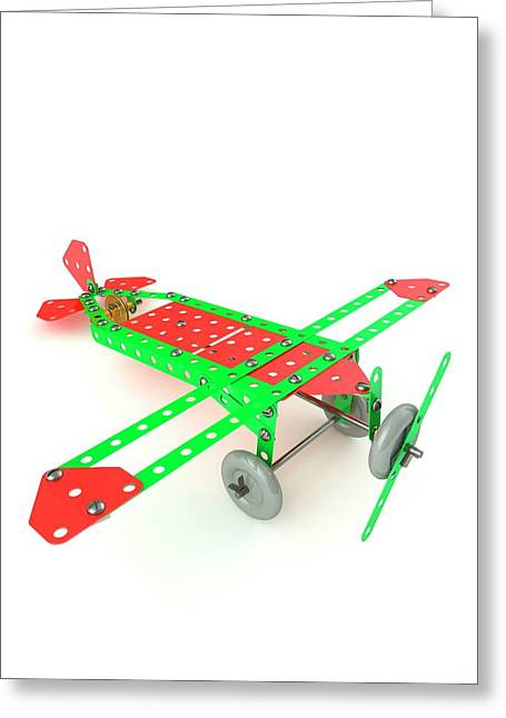 Model Aeroplane Greeting Card by David Parker