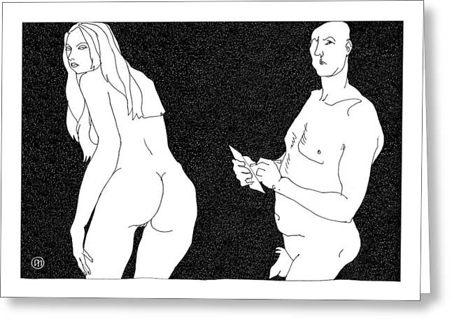 Model And Artist 10 Greeting Card by Leonid Petrushin