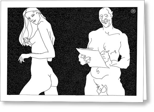 Nu Greeting Cards - Model and artist 22 Greeting Card by Leonid Petrushin