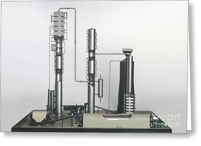 Industrial Background Greeting Cards - Model Of A Chemical Plant Greeting Card by Clive Streeter / Dorling Kindersley / Science Museum, London