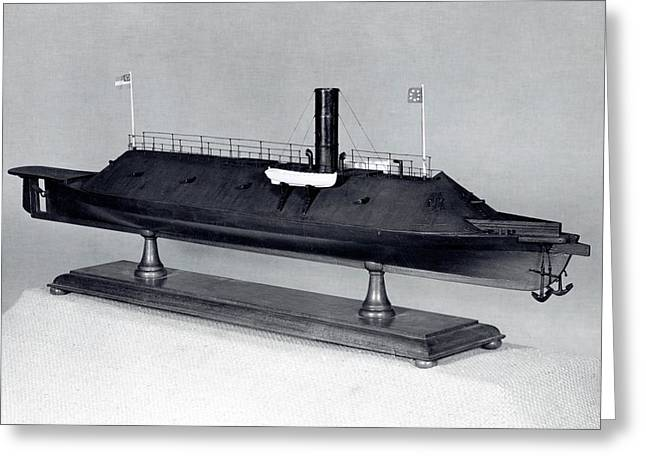 Model Of Ironclad Warship Css Virginia Greeting Card by Us Navy/naval History And Heritage Command