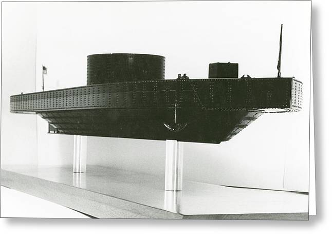 Model Of Ironclad Warship Uss Monitor Greeting Card by Us Navy/naval History And Heritage Command