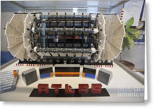 Lhc Greeting Cards - Model Of The Atlas Particle Detector Greeting Card by Adam Hart-davis