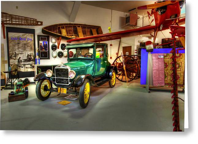 Ford Model T Car Greeting Cards - Model T Display Greeting Card by Ron Day