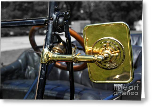 Ford Model T Car Greeting Cards - Model T Ford - 1914 Greeting Card by Steven  Digman