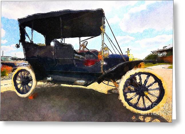 Ford Model T Car Greeting Cards - Model T Ford Greeting Card by Liane Wright
