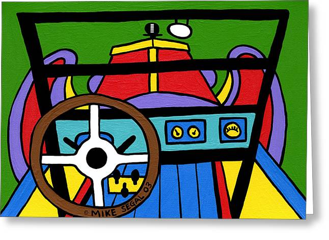 Ford Model T Car Paintings Greeting Cards - Model T Greeting Card by Mike Segal