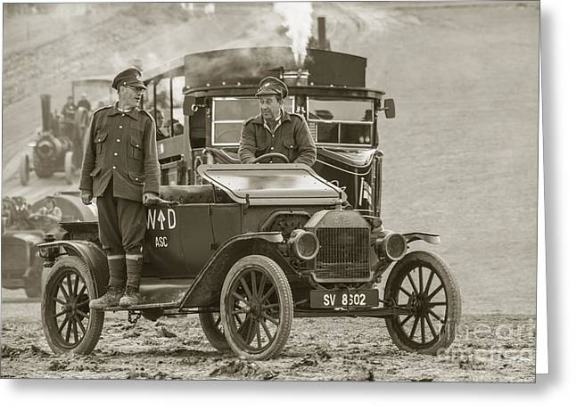 Ford Model T Car Greeting Cards - Model T of War  Greeting Card by Rob Hawkins