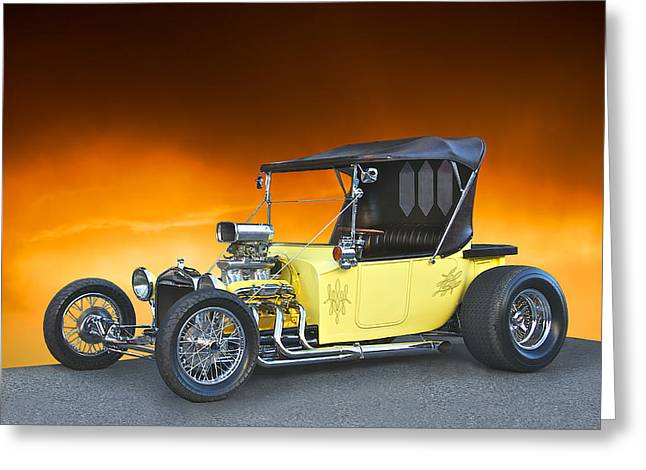 Model T Roadster Pick Up I Greeting Card by Dave Koontz