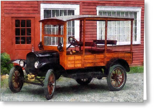 Model T Greeting Cards - Model T Station Wagon Greeting Card by Susan Savad