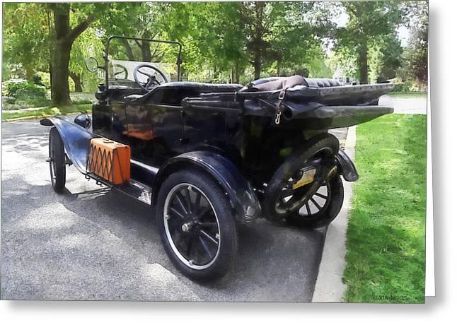 Vintage Car Greeting Cards - Model T With Luggage Rack Greeting Card by Susan Savad