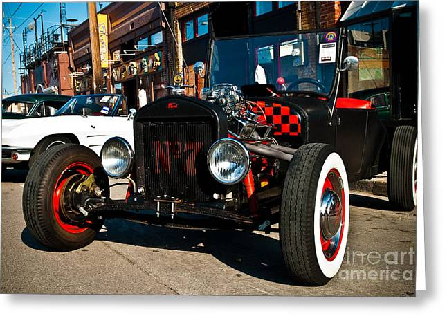 Model T Xtra Greeting Card by Sonja Quintero