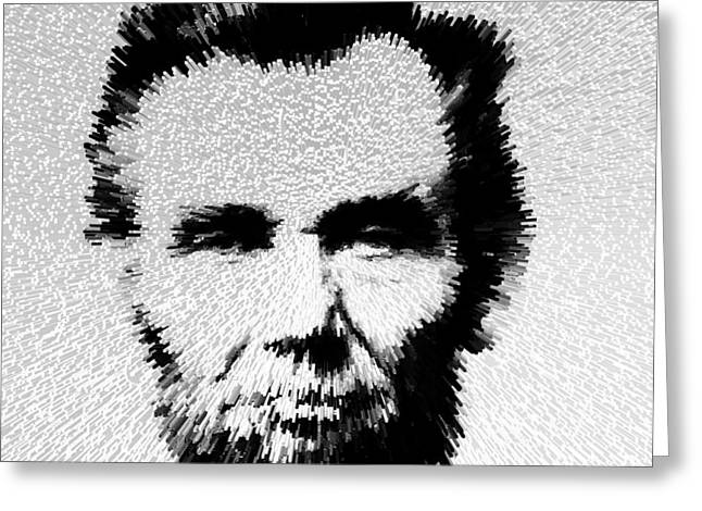 President Of America Photographs Greeting Cards - Modern Abe - Abraham Lincoln Art by Sharon Cummings Greeting Card by Sharon Cummings