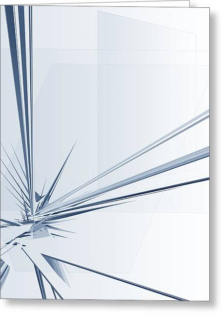 Geometric Effect Greeting Cards - Modern Abstract Greeting Card by GP Images