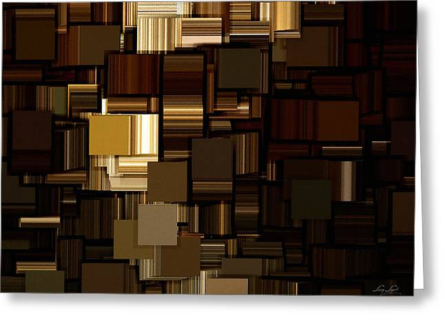 Modern Abstract Iv Greeting Card by Lourry Legarde