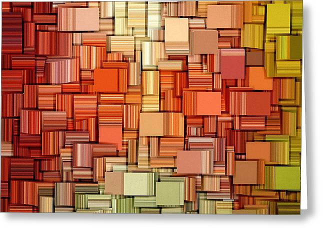 Modern Abstract VIII Greeting Card by Lourry Legarde