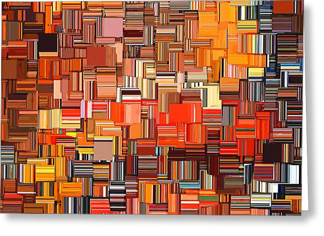 Tangerines Digital Greeting Cards - Modern Abstract XXXI Greeting Card by Lourry Legarde