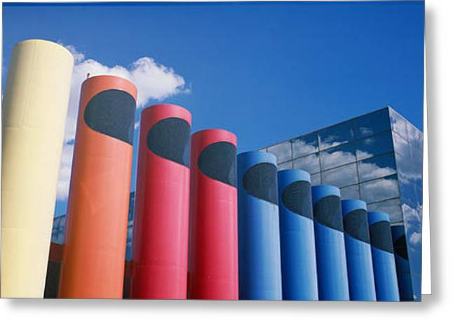 Smokestack Greeting Cards - Modern Architecture, Columbia, South Greeting Card by Panoramic Images