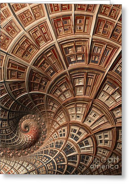Psychedelic Space Art Greeting Cards - Modern Architecture  Greeting Card by Heidi Smith