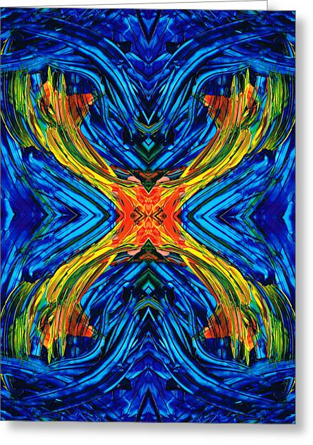Abstract Movement Greeting Cards - Modern Art - Xuberant - By Sharon Cummings Greeting Card by Sharon Cummings