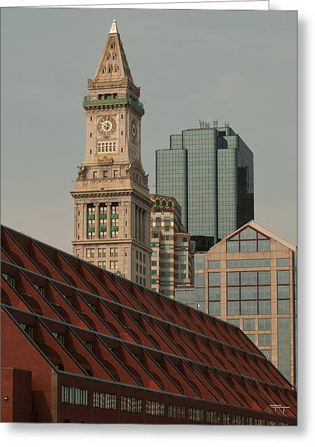 Boston Ma Greeting Cards - Modern Boston Greeting Card by Paul Mangold