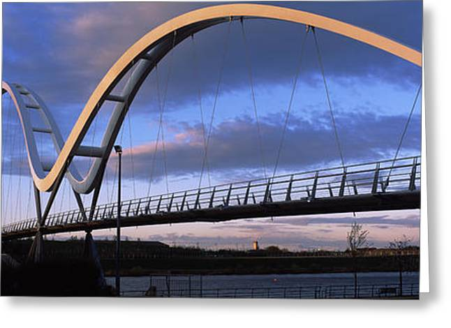 Stockton Greeting Cards - Modern Bridge Over A River, Infinity Greeting Card by Panoramic Images
