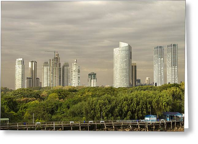 Buenes Aires Guide Greeting Cards - Modern Buenos Aires Greeting Card by For Ninety One Days
