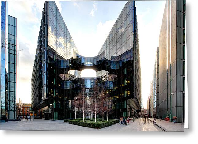 Modern Building Greeting Card by Ollie Taylor