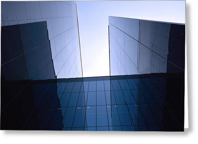 Globalization Greeting Cards - Modern building Greeting Card by Toppart Sweden