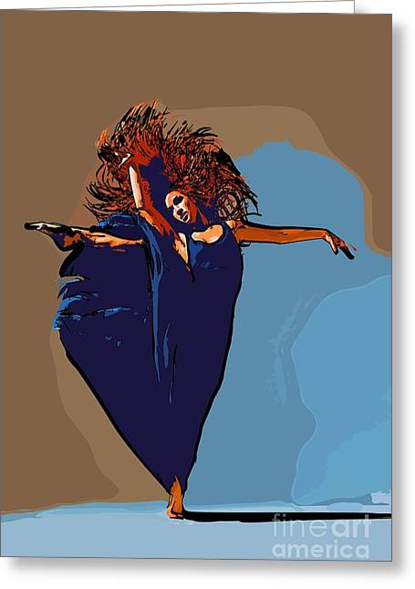 College Town Greeting Cards - Modern dancer 11 Greeting Card by College Town