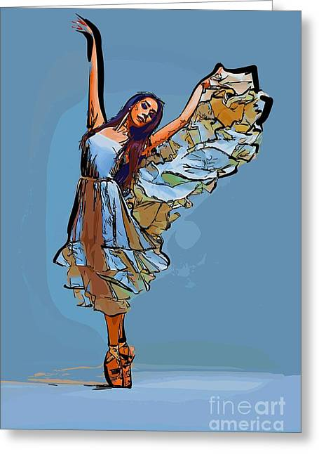 College Town Greeting Cards - Modern dancer 16 Greeting Card by College Town