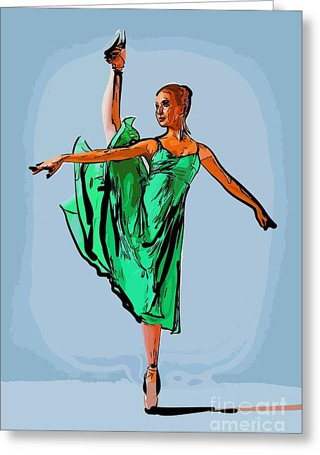 College Town Greeting Cards - Modern dancer 18 Greeting Card by College Town