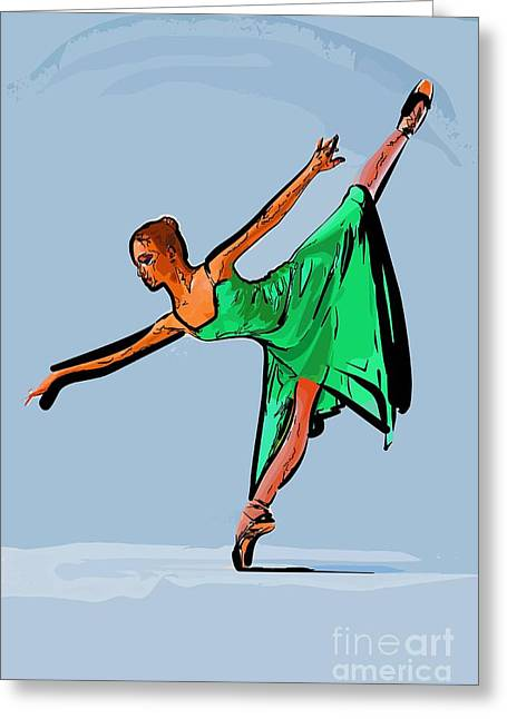College Town Greeting Cards - Modern dancer 19 Greeting Card by College Town