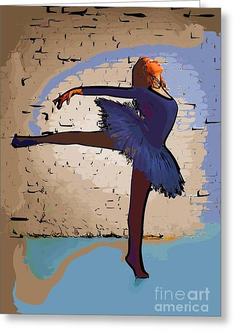 College Town Greeting Cards - Modern dancer 2 Greeting Card by College Town