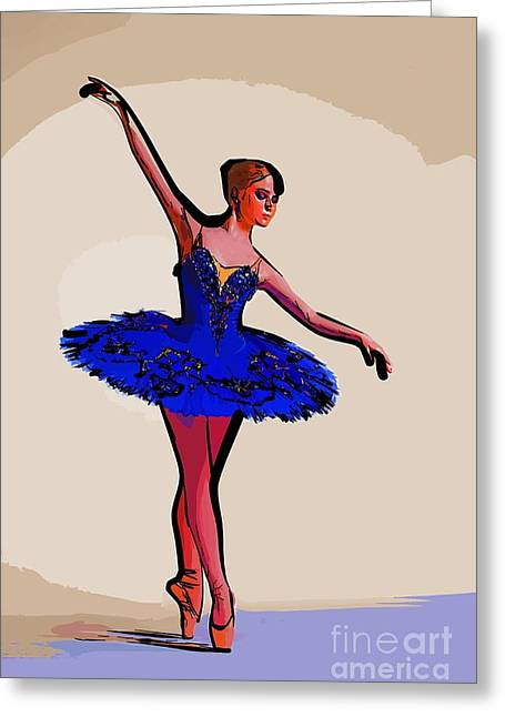 College Town Greeting Cards - Modern dancer 20 Greeting Card by College Town