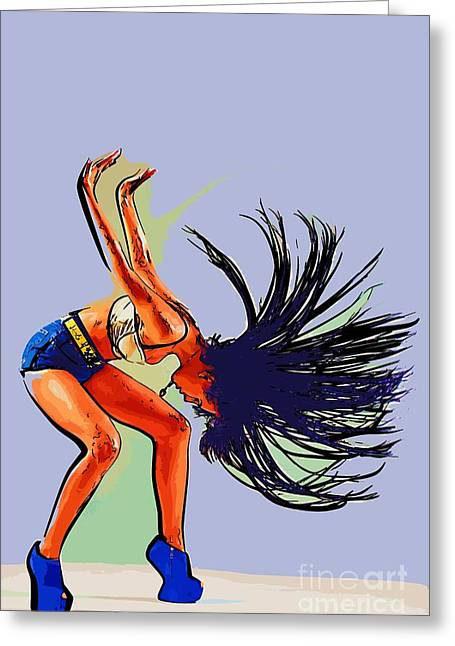 College Town Greeting Cards - Modern dancer 23 Greeting Card by College Town
