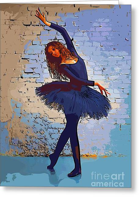 College Town Greeting Cards - Modern dancer 3 Greeting Card by College Town