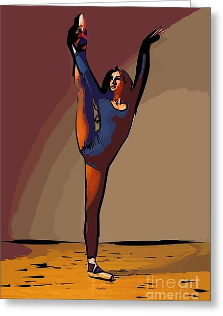 College Town Greeting Cards - Modern dancer 6 Greeting Card by College Town