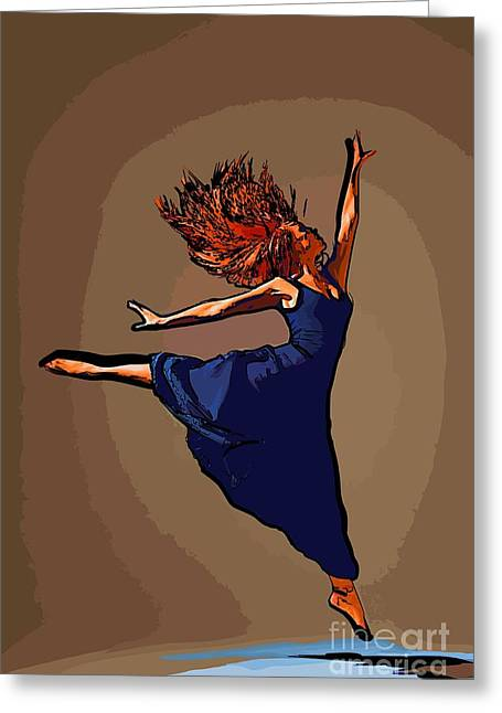 College Town Greeting Cards - Modern dancer 76 Greeting Card by College Town