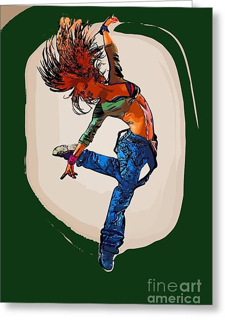 College Town Greeting Cards - Modern dancer 9 Greeting Card by College Town
