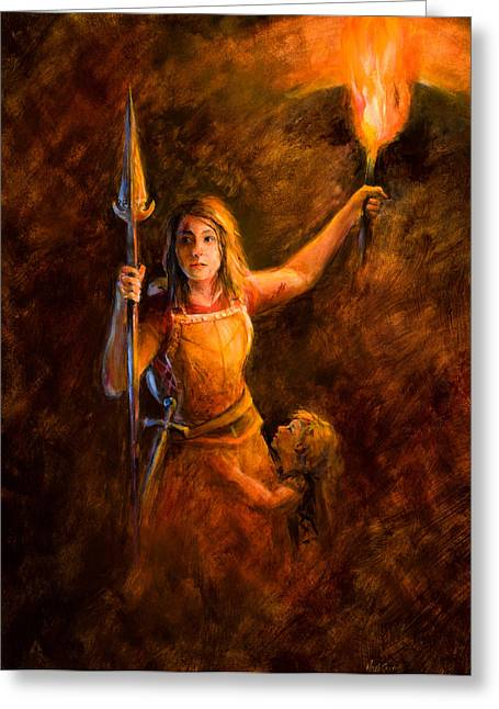 Modern Day Mother In Zion Greeting Card by Anita HartCarroll