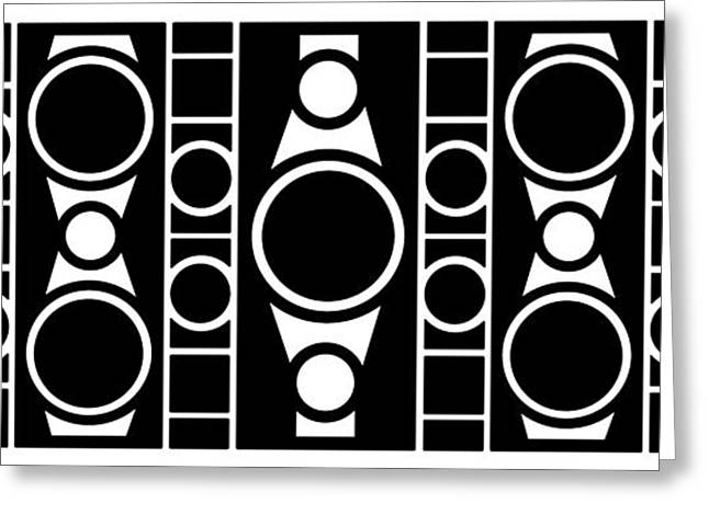 Many Mixed Media Greeting Cards - Modern Design 2 in Black Greeting Card by Mike McGlothlen