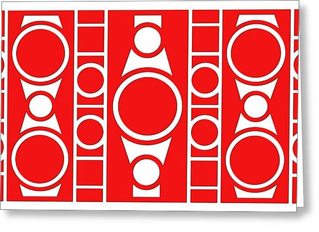 Pop Mixed Media Greeting Cards - Modern Design II Greeting Card by Mike McGlothlen