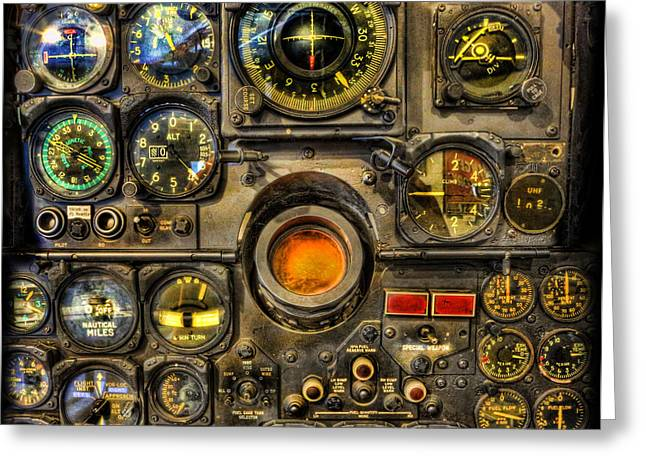 Control Panels Greeting Cards - Modern Electronic Cockpit - Flight Instruments Greeting Card by Lee Dos Santos