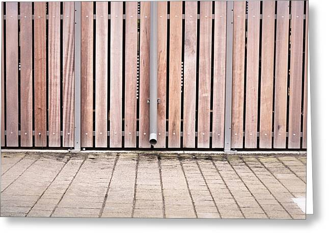 Timber Posts Greeting Cards - Modern fence Greeting Card by Tom Gowanlock