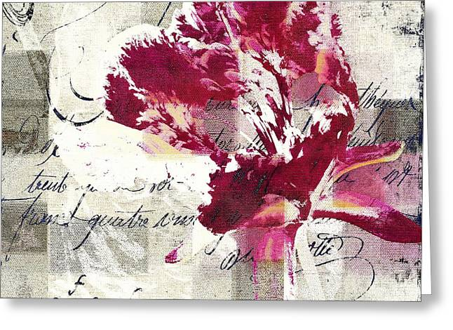Texture Flower Greeting Cards - Modern Floral - 072083158 -f222a Greeting Card by Variance Collections